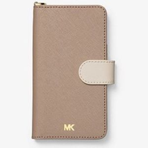 Michael Kors Color Block Folio Case iPhone X - NWT